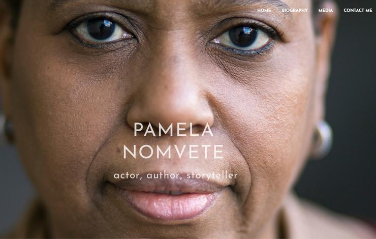 Website Design for Pamela Nomvette |  Actor, Author, Storyteller