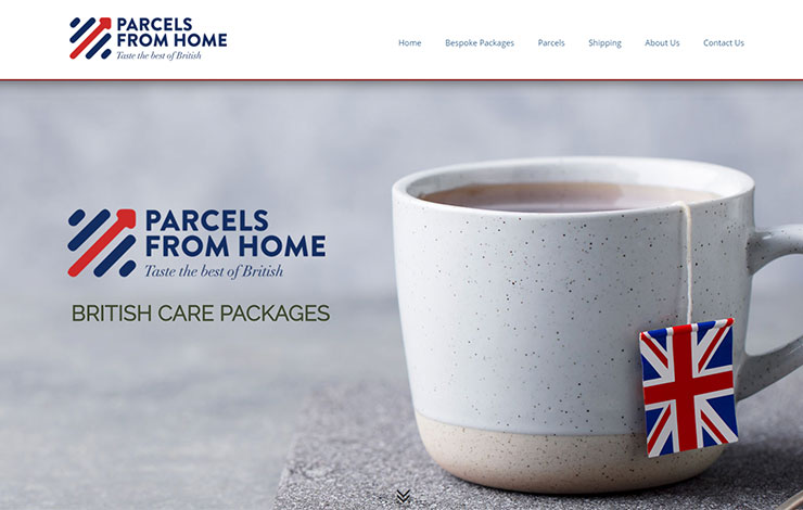 Website Design for British Care Packages | Parcels from Home