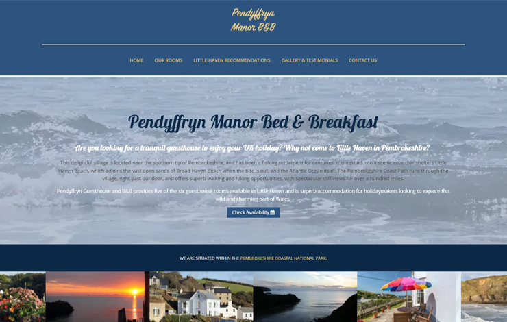 Home | Pendyffryn Guesthouse and B&B | Wales