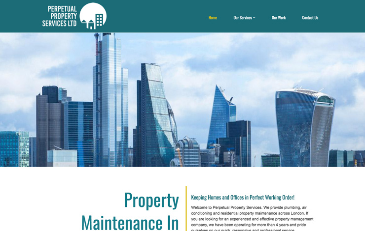 Website Design for Property maintenance in London | Perpetual Property Services