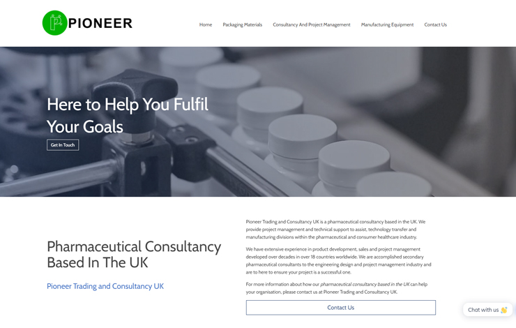 Pharmaceutical Consultancy Based In The UK | Pioneer TC