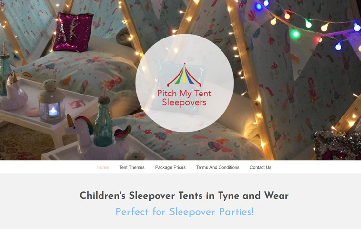 Children Sleepover Tents In Tyne And Wear