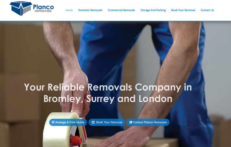 Website Design for Domestic and Commercial Removals | Planco Removals