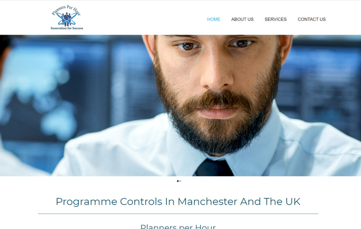 Website Design for Programme Controls in Manchester   Planners per Hour