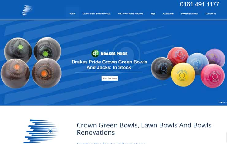 Website Design for Crown Green Bowls, Lawn bowls and Bowls Renovations | Premier Bowls