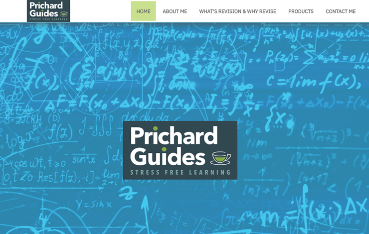 Website Design for GSCE Science Revision Guide in UK