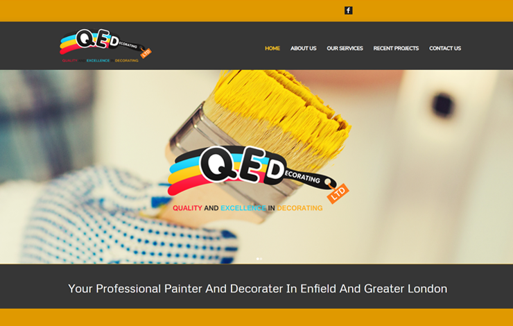 Website Design for Painter and Decorator in Enfield | Q E Decorating Ltd.