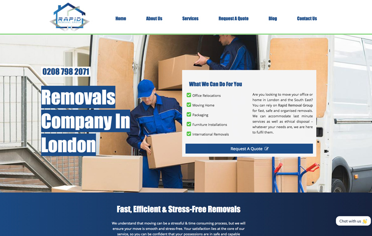 Removals company in London | Rapid Removals Group