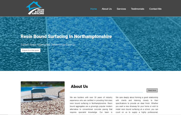 Website Design for Resin Bound Surfacing in Northamptonshire