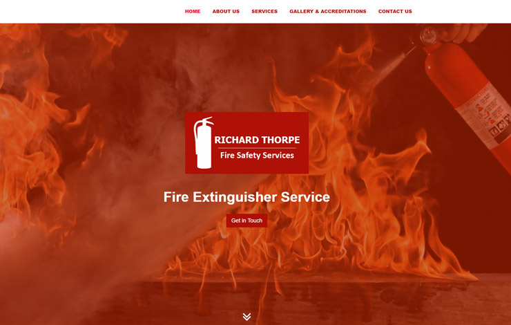 Website Design for Fire Extinguisher Service | Richard Thorpe Fire Safety Services