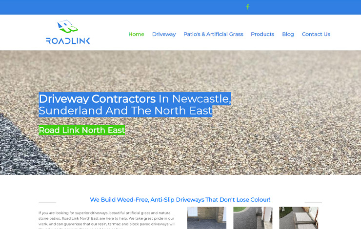 Website Design for Driveway Contractors | Road Link North East