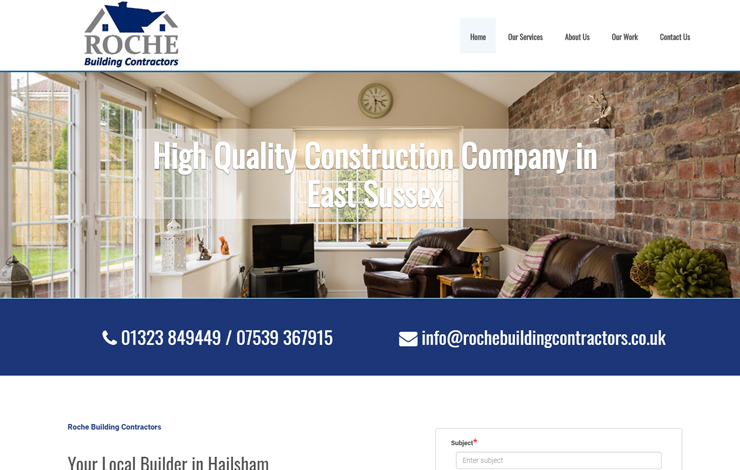 Website Design for Construction Company In East Sussex