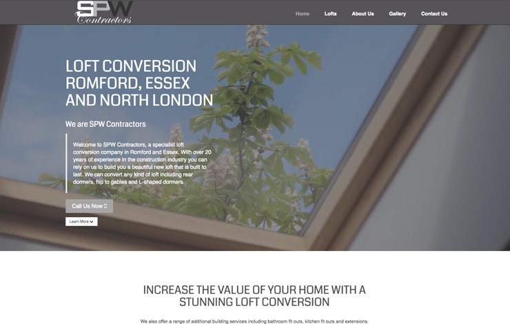 Website Design for Loft conversions in Romford | SPW Contractors
