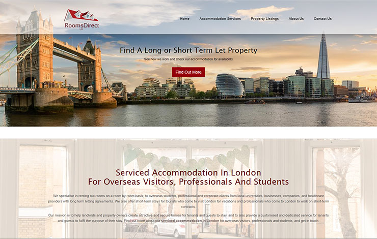 Website Design for Serviced Accommodation in London