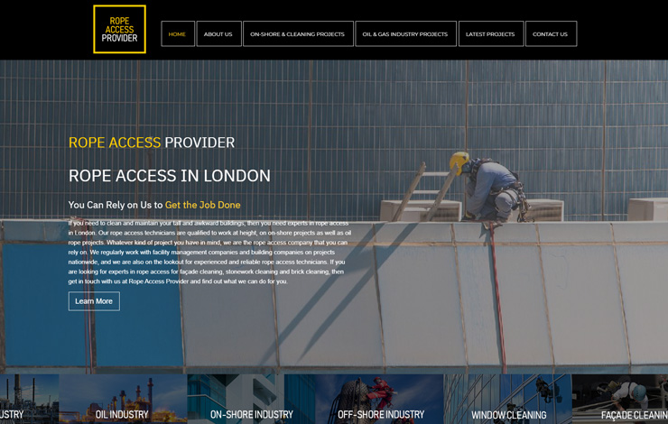 Website Design for Rope Access in London | Rope Access Provider