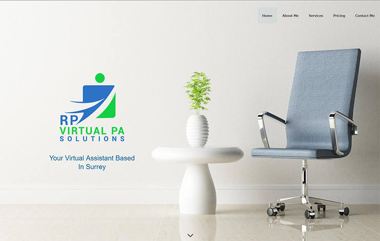 Website Design for Virtual Assistant based in Surrey | RP Virtual PA Solutions