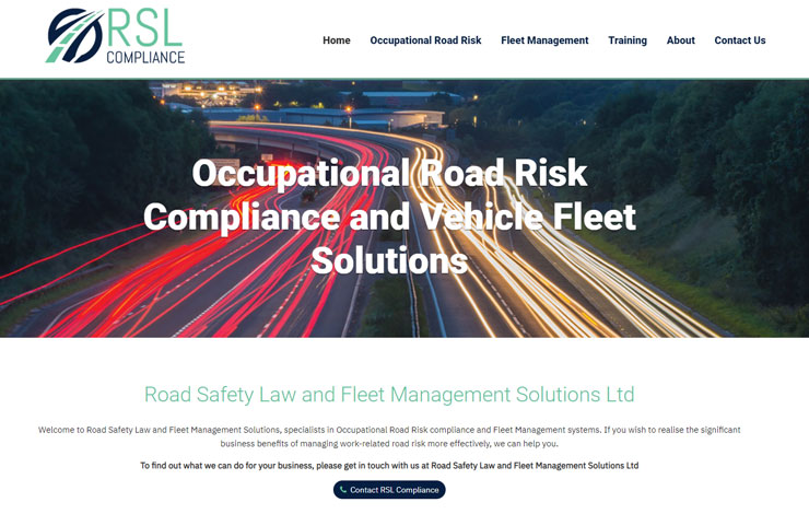 Website Design for Occupational Road Risk compliance and Vehicle Fleet solutions | RSL Compliance