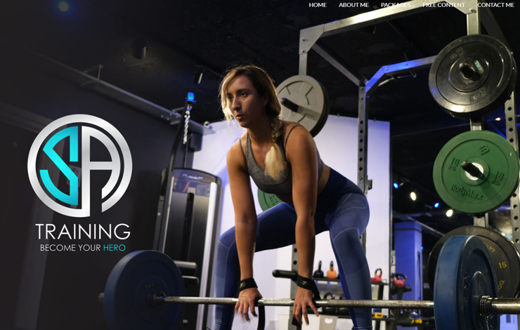 Website Design for SA Training  | Personal Trainer in Norwich