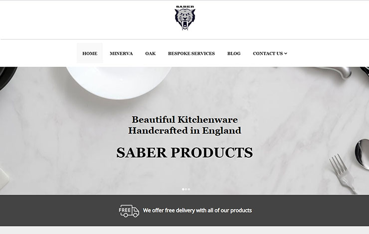 Website Design for Minerva Chopping Boards | Saber Products