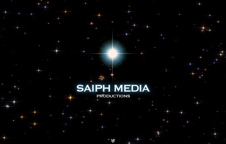 Website Design for Saiph Media | Media Productions based in the Midlands