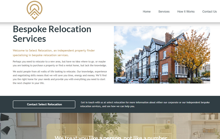 Website Design for Bespoke Relocation Services | Select Relocation