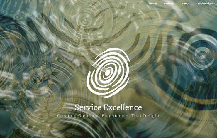 Website Design for Customer Service Training | Service Excellence