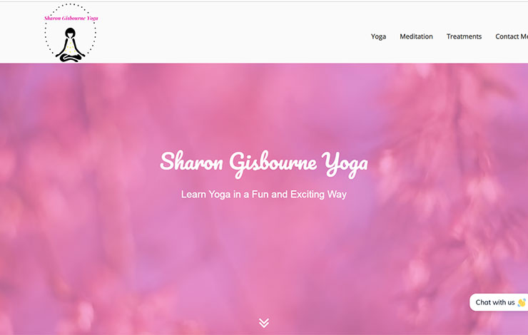 Website Design for Yoga Classes In Worcestershire | Sharon Gisbourne Yoga