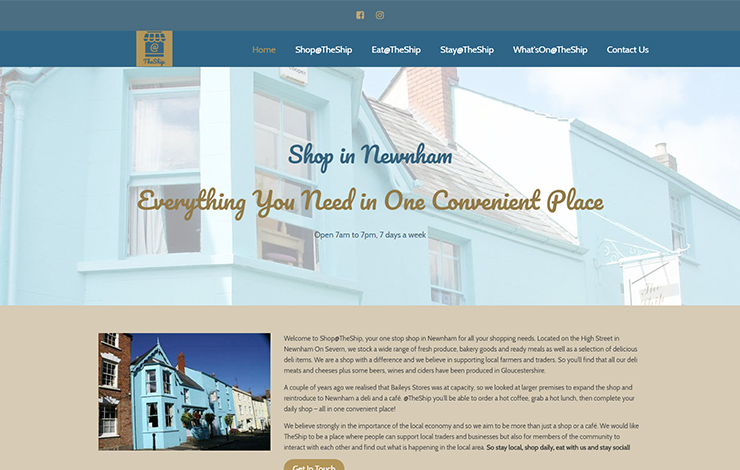 Website Design for Shop at TheShip in Newnham | Convenience store