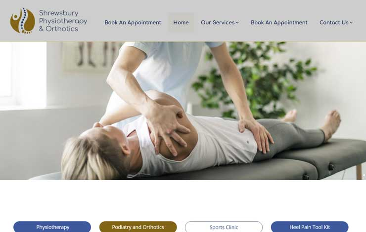 Website Design for Physiotherapy in Shrewsbury