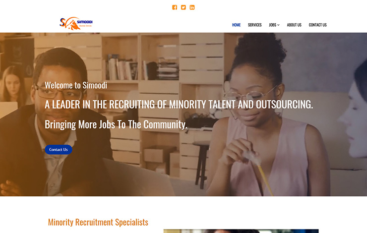 Website Design for Minority recruitment in London | Diversify your work force