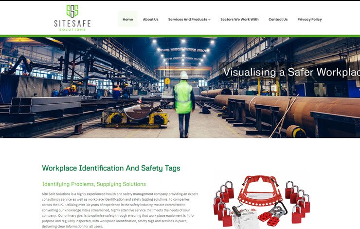 Website Design for Workplace Identification and Safety Tags