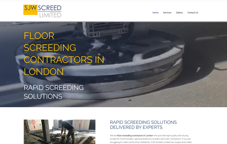 Website Design for SJW Screed Limited | Floor Screeding Contractors in London