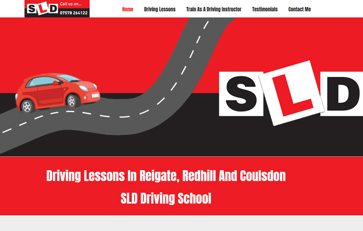 Website Design for Driving Lessons in Reigate | SLD Driving School