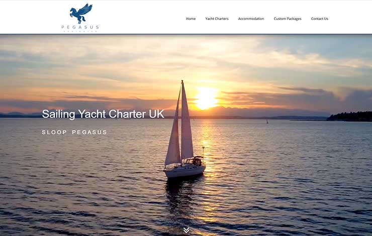 Website Design for Sailing Yacht Charter in the UK | Sloop Pegasus