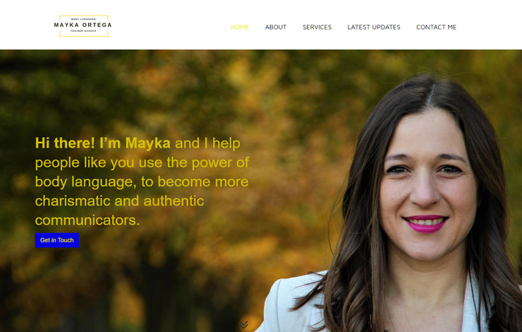 Website Design for Public Speaking Coach in London | Mayka Ortega