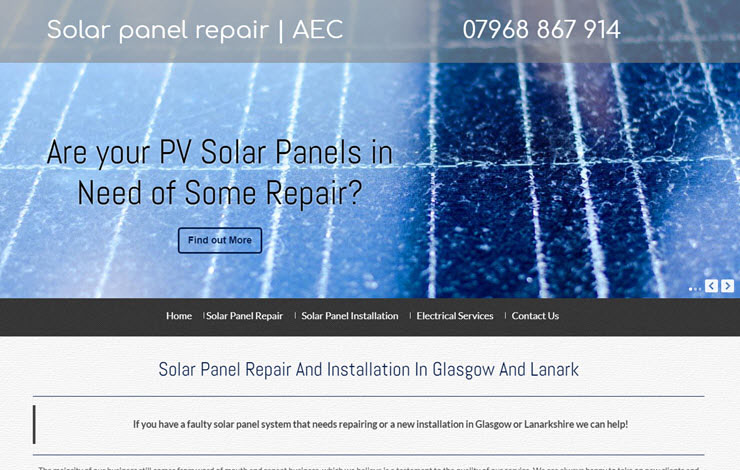 Solar Panel Repair And Installation In Glasgow And Lanark