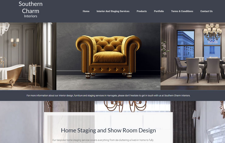 Website Design for Interior Design and Home Staging | Southern Charm Interiors
