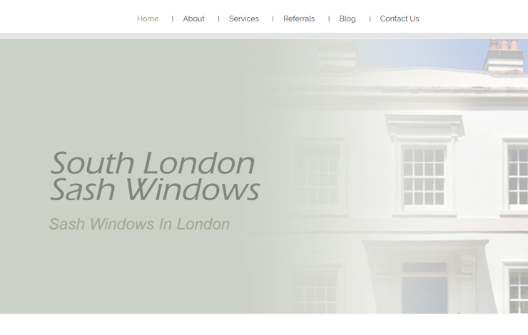 Website Design for Sash Windows in London