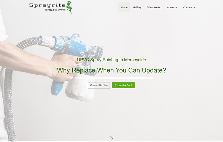 Website Design for uPVC Spray Painting in Merseyside