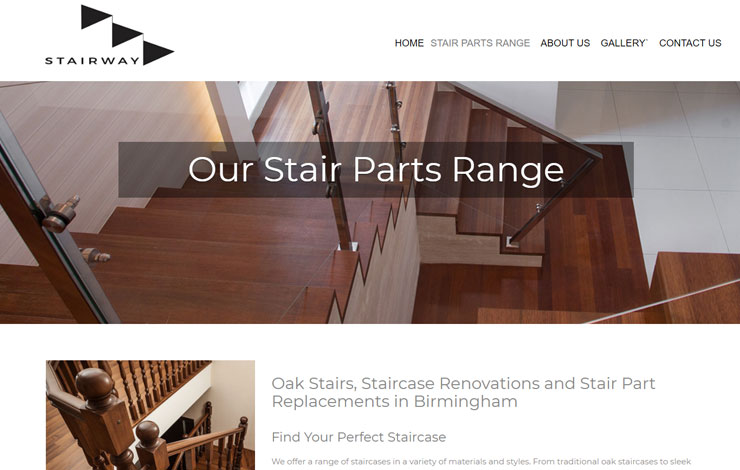 Website Design for Staircase Renovation Birmingham  | StairWay