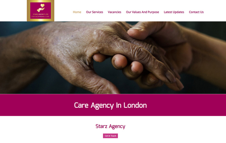 Website Design for Care Agency in London | Starz Agency Ltd
