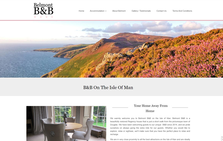 Website Design for Stay Belmont | B&B on the Isle of Man