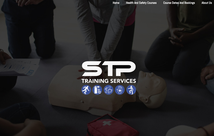 Website Design for Health And Safety Training And First Aid Training Courses | STP Training Services