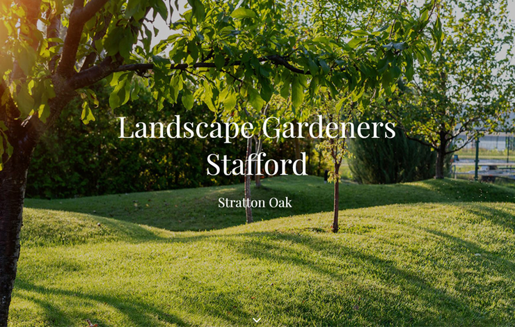 Website Design for Landscaping in Staffordshire with Stratton Oak and tree surgery