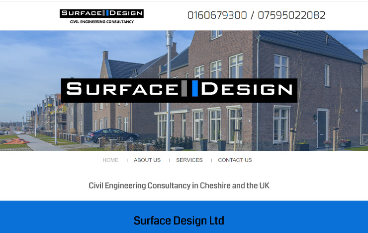 Website Design for Civil Engineering Consultancy in Cheshire