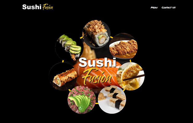 Website Design for Sushi Fusion Brighton | Traditional and fusion sushi
