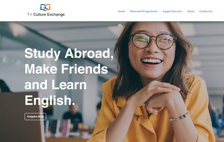 Website Design for International Education Consultant | Taixi Culture Exchange