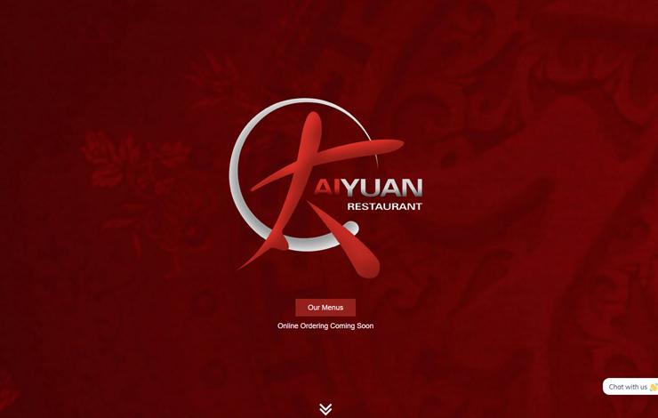Website Design for Chinese Restaurant in Falkirk | Taiyuan Restaurant
