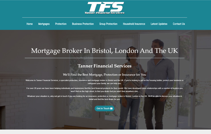Website Design for Mortgage Broker in Bristol | Tanner Financial Services