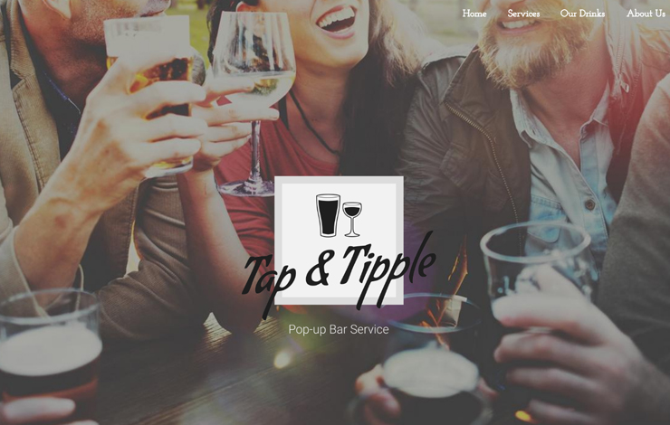 Website Design for Pop-Up Bar Hire in Cheshire and Lancashire | Tap and Tipple